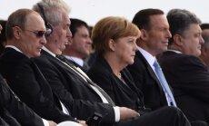 Vladimiras Putinas, Milošas Zemanas, Angela Merkel