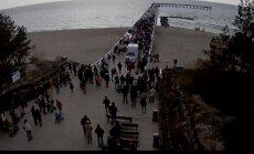 Nuo Palangos tilto į jūrą nušokusio jaunuolio gelbėjimo operacija
