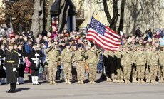 USA troops at the Simonas Daukantas Sq.