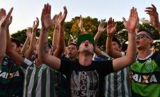 Brazilija gedi žuvusių futbolininkų