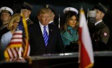 Donaldas Trumpas atvyko į Lenkiją