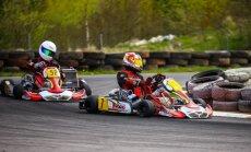 Įtemptas pirmąsias Lietuvos kartingo čempionato lenktynes laimėjo J. Jonušis