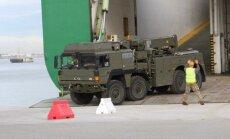 Į Lietuvą atplukdyta NATO karinė technika