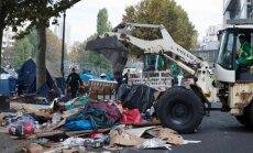 Nelegali migrantų stovykla Paryžiuje