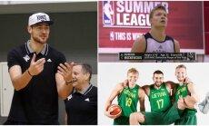 NBA lygoje turėtų rungtyniauti net penki lietuviai (DELFI, FIBA ir Stopkadro nuotr.)