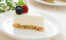 Tobulai skanus ir greitas nekeptas sūrio tortas