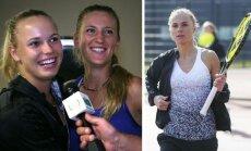 Caroline Wozniacki, Viktorija Azarenka ir Lina Stančiūtė
