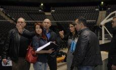 Europos dziudo sąjungos atstovai Kauno Žalgirio arenoje
