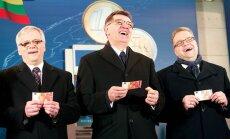 Simbolinis vieningos Europos valiutos pasitikimo renginys