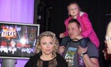 Violeta ir Vilius Tarasovai su dukra Gabriele