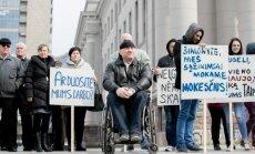 Dirbančių neįgaliųjų mitingas Leiskite dirbti