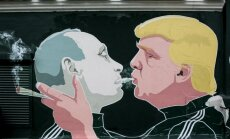 Vladimiras Putinas ir Donaldas Trumas (M.Bonanu ir D.Čečkausko piešinys)