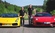 """Lenktynininkai palygino """"Ferrari"""" ir """"Lamborghini"""": abu nepakartojami, bet skirtingi"""