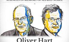 Nobelio ekonomikos premijos laureatai Oliveris Hartas ir Bengtas Holmstromas