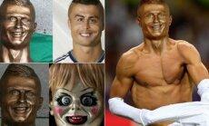 Keistas Cristiano Ronaldo biustas Madeiroje sulaukė daug dėmesio socialiniuose tinkluose