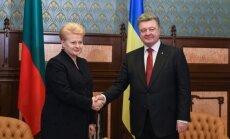 D. Grybauskaitė, P. Porošenka