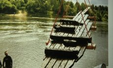 Skenuota senosios vytinės nuotrauka. Statomas šių metų laivas atrodys labai panašiai.