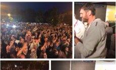 """""""Lietkabelį"""" Panevėžyje sutiko daugiatūkstantinė minia."""