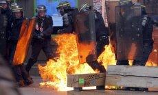 Prancūzijos darbo reformų priešininkų demonstracija