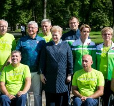 President Grybauskaitė among members of Team Lithuania