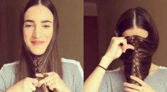 Fantastiška šukuosena per 5 minutes: iš pirmo žvilgsnio atrodo keistai, bet pažiūrėk iki galo! VIDEO