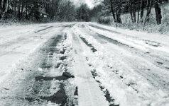 Šiltėjančios žiemos kelininkų pinigų netaupo