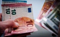 """""""Eurostat"""": antrąjį 2016 m. ketvirtį pakilo realiosios namų ūkių pajamos vienam asmeniui euro zonoje"""