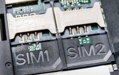 Lizdai dviem SIM kortelėms