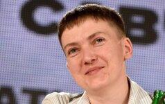 N. Savčenko planuoja aplankyti Lietuvą: jūs nuostabūs žmonės