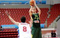 Lietuvos 20-mečiai krepšininkai pralaimėjimais baigė draugiškų rungtynių ciklą
