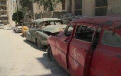 Senovinių automobilių kolekcininkas Sirijoje patyrė rimtų nuostolių