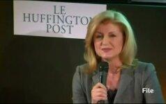 """Atsistatydina viena iš """"Huffington Post"""" steigėjų A. Huffington"""