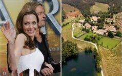 Skyrybų krečiami A. Jolie ir B. Pittas parduoda savo prabangią pilį, kurioje atšoko vestuves