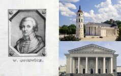 Laurynas Gucevičius, Vilniaus arkikatedra ir Rotušė/Vidapress nuotr. koliažas