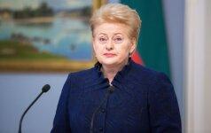 D. Grybauskaitė: jokia dirbtinė koalicija ilgai neišgyvena