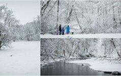 Žiema nepamiršo ir sostinės: pasakiškais vaizdais apdovanotos Vilniaus apylinkės