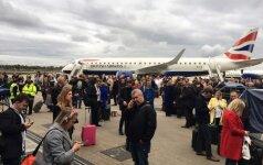 Londono Sičio oro uostas evakuotas