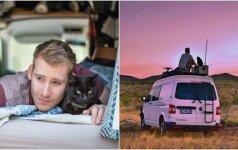 Vyras nesėdi vietoje: atsisakė darbo, namų ir leidosi į kelionę su kate