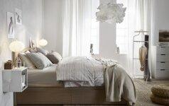 Kelios gudrybės, dėl kurių miegamasis taps patogesnis ir erdvesnis