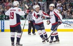 """NHL, Vašingtono """"Capitals"""" džiaugiasi pergale prieš """"Dallas Stars"""" ledo ritulininkus"""
