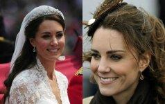 5 mėgstamiausios Kate Middleton šukuosenos FOTO