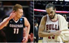 """J. Noah traukiasi iš legendinės """"Bulls"""". Į pamainą prancūzui – D. Sabonis?"""