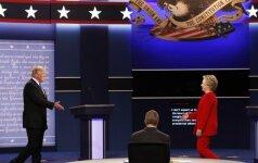 H. Clinton ir D. Trumpo diskusija apie Rusijos vykdytas kibernetines atakas