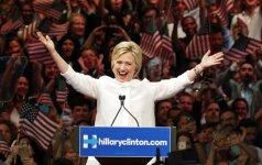 H. Clinton oficialiai tapo pirmąja moterimi kandidate į JAV prezidentus