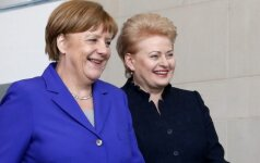 German Chancellor Angela Merkel and Lithuanian President Dalia Grubauskaitė