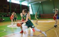 Lietuvos 20-metės per kėlinį panaikino 12 taškų deficitą ir trečiąkart nugalėjo ukrainietes