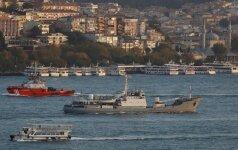 Prie Turkijos krantų sudužo Rusijos žvalgybinis laivas