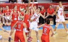 Europos moterų krepšinio čempionate - juodkalniečių, graikių ir turkių pergalės