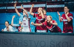Latvijos rinktinė įveikė itales ir pirmą kartą iškovojo bilietą į pasaulio čempionatą