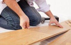 Darau pats: grindų remontas, laminato klojimas ir grindjuosčių pritvirtinimas